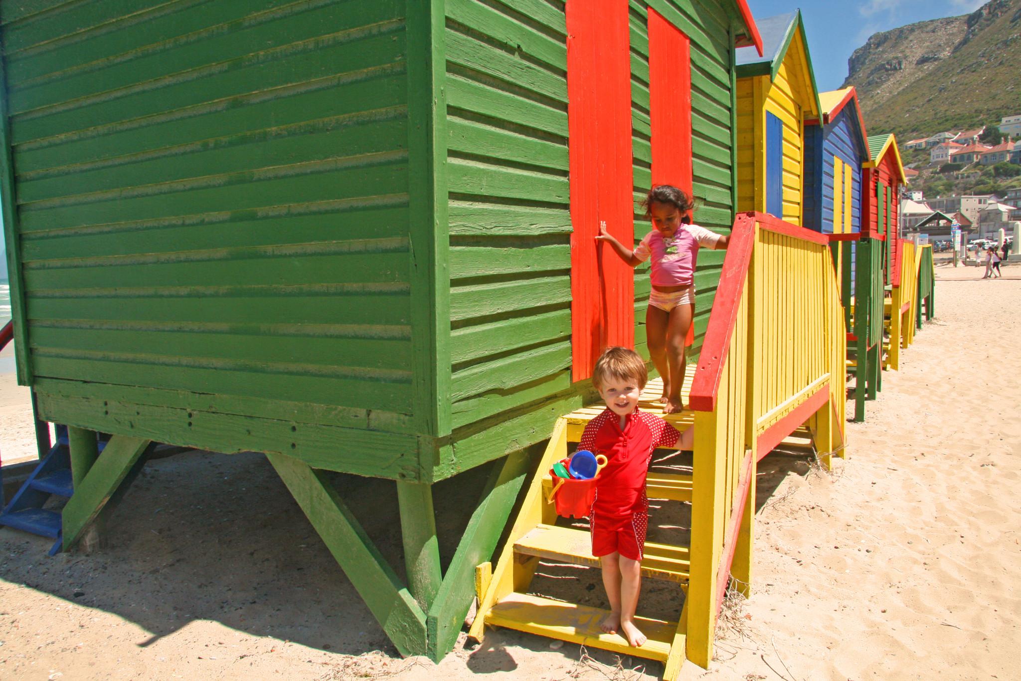 Kinder finden unterwegs schnell Freunde (Südafrika)