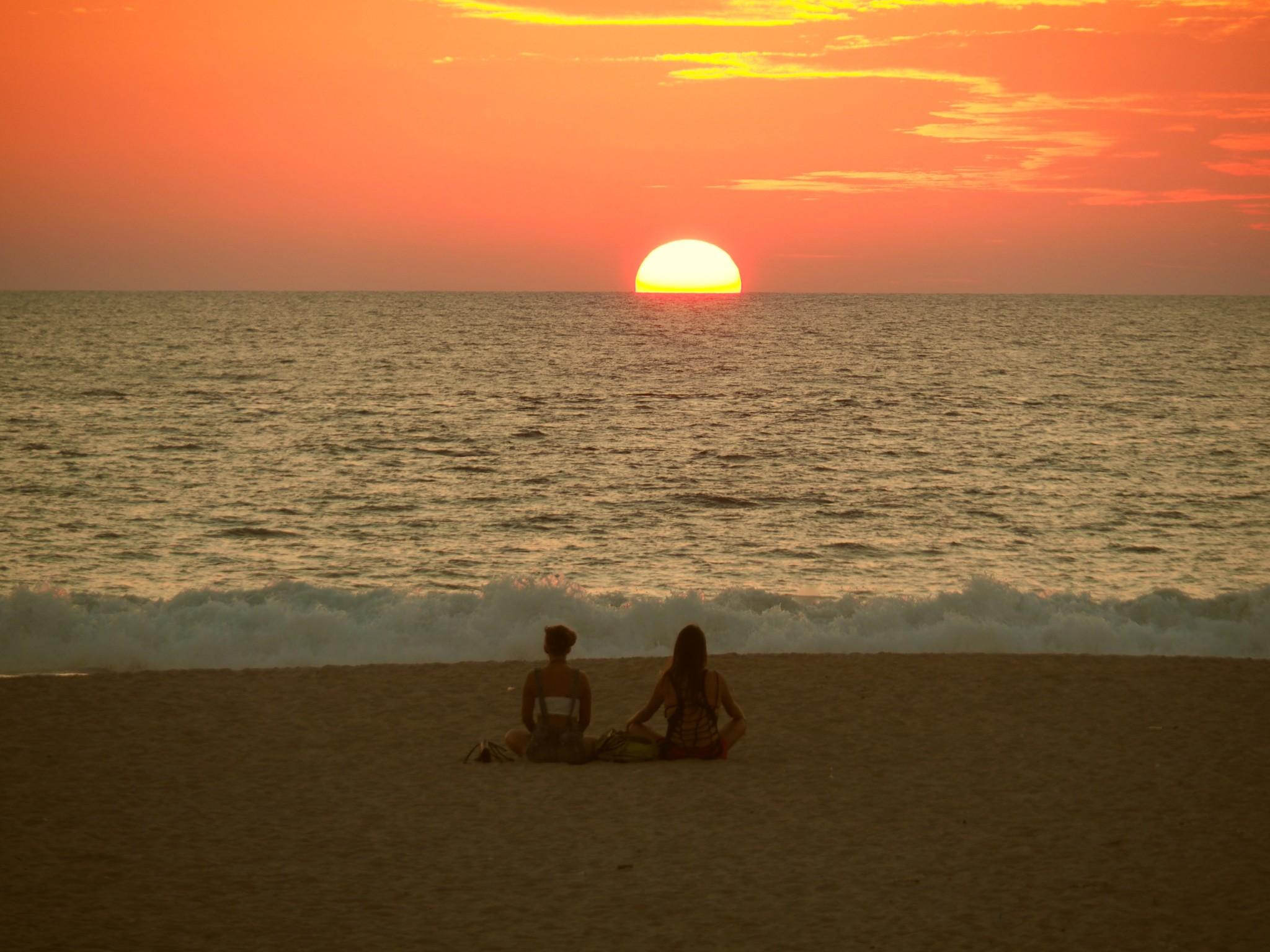 Zum Meditieren schön: Sonnenuntergang in Puerto Escondido