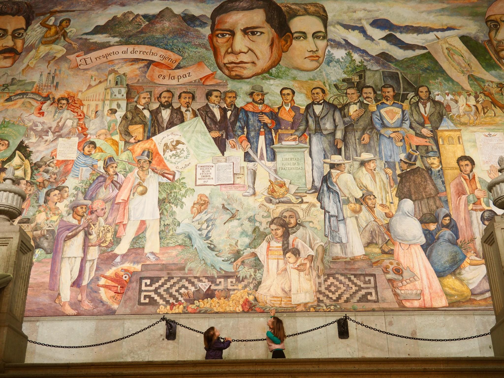 Wandgemälde im Palacio de Gobierno