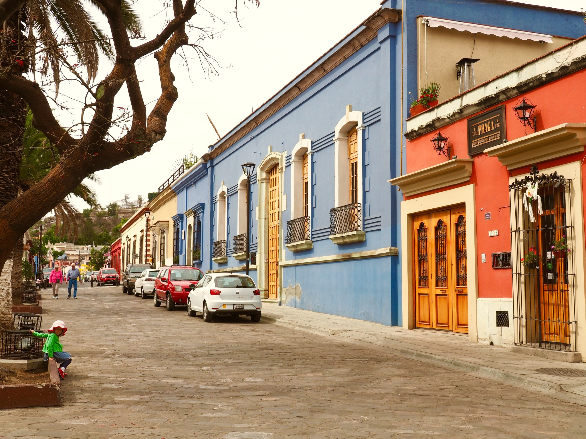 Typische Straße in Oaxaca