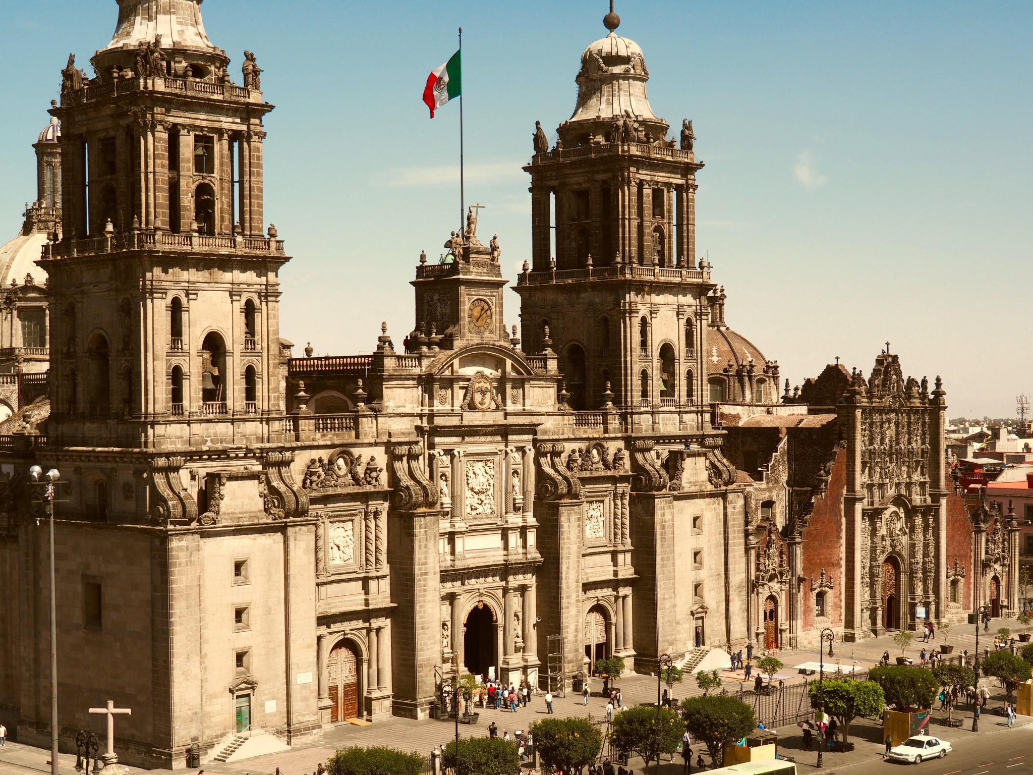 Die Kathedrale von Mexico City ist die größte Lateinamerikas