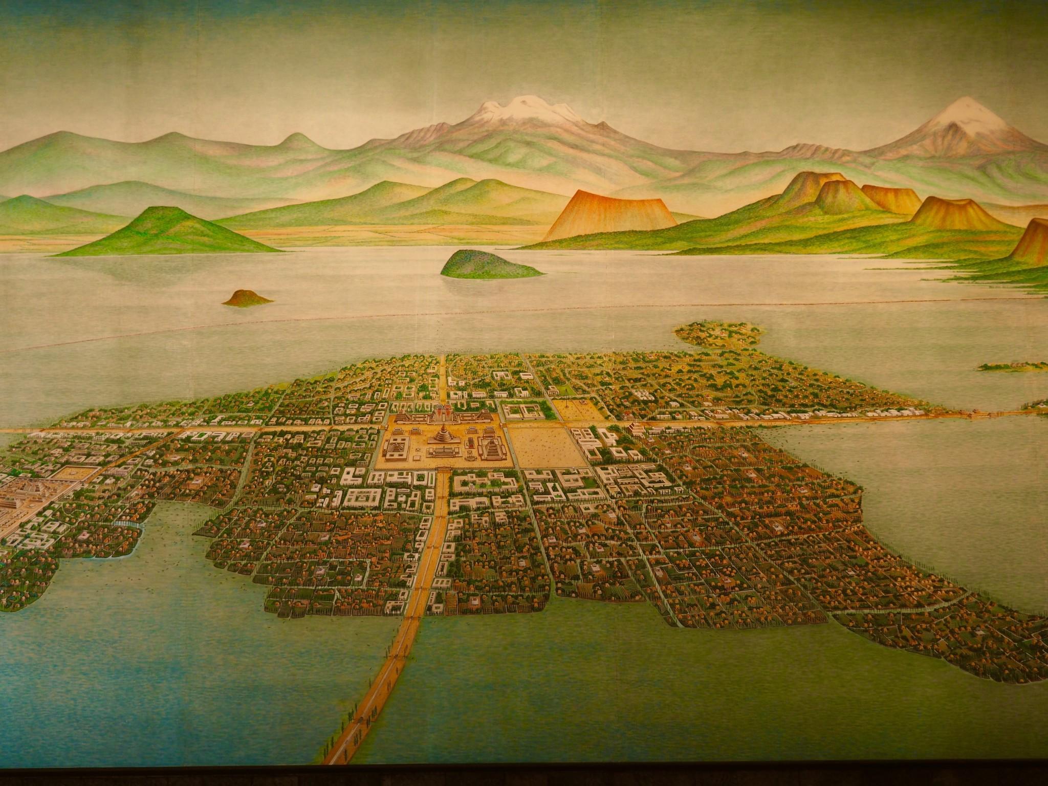 Mexico City bzw. Tenochtitlan vor 500 Jahren