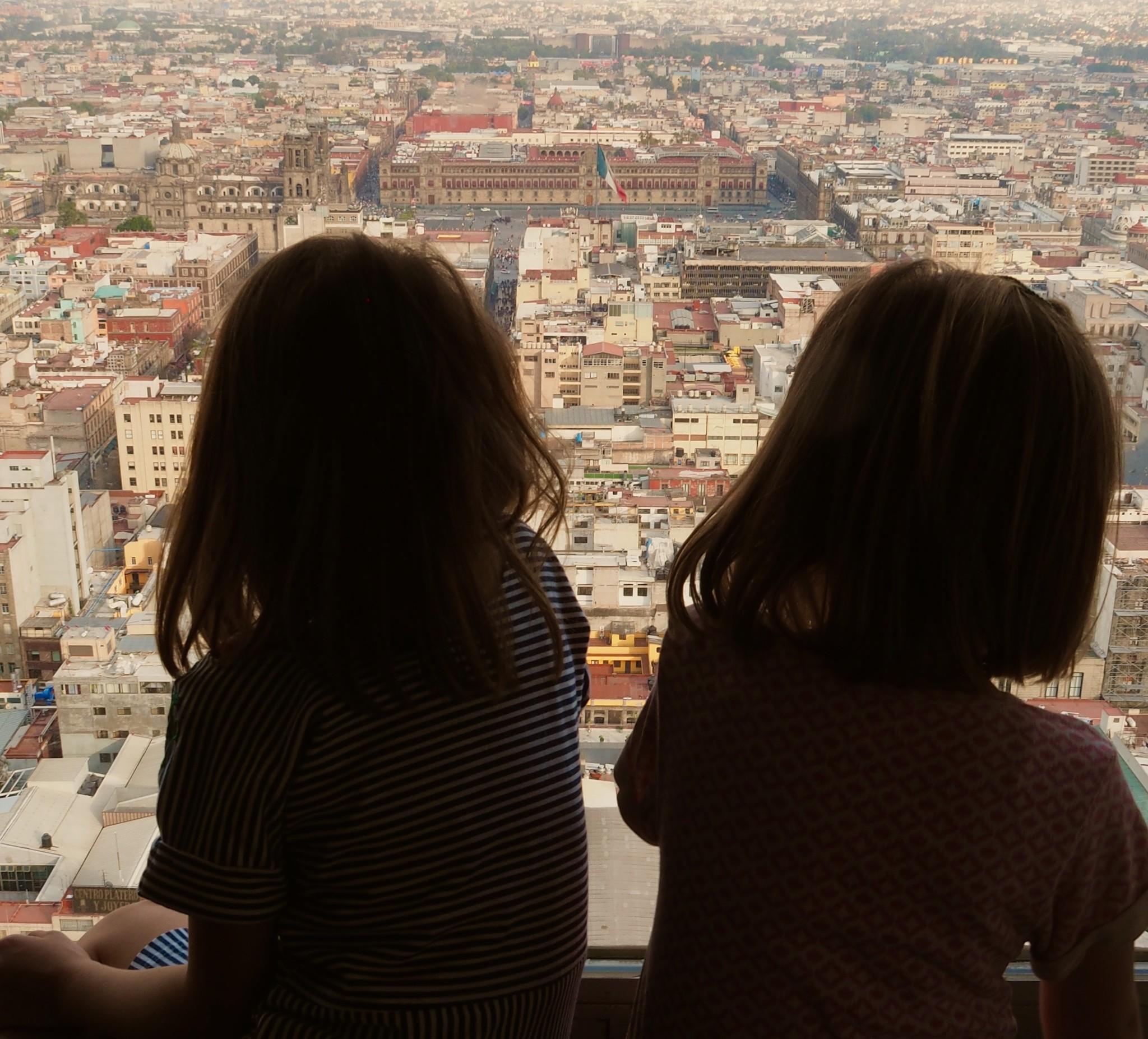 Mexiko Stadt mit Kindern